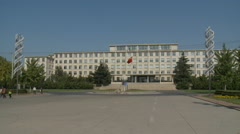 Modern Chinese university building, Dalian Stock Footage