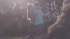 Couple In Love Hugging And Falls In A Haystack Arkistovideo