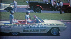 1963: Women's army corps led 4th of July parade. Stock Footage