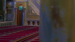 Praying muslims at a mosque filmed in Israel. Stock Footage