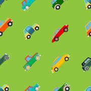 Seamless wallpaper of cars Stock Illustration