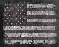 Grunge US Flag - stock illustration