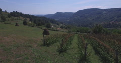Stock Video Footage of Countryside aerial in Bosnia and Herzegovina