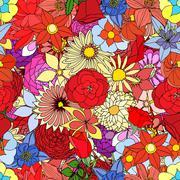 Stock Illustration of Beautiful summer ornate