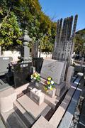 Japanese cemetery - stock photo