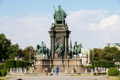 Maria-Theresien-Platz In Vienna - stock photo