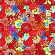 Beautiful summer ornate - stock illustration