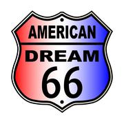 Stock Illustration of American Dream Route 66 Sign