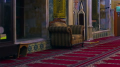 Video of praying at Jezzar Pasha Mosque filmed in Israel. Stock Footage