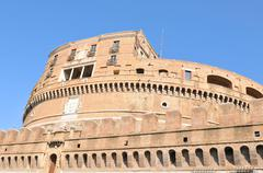 Sant Angelo castle in Rome, Italy - stock photo