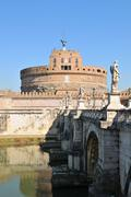 Sant Angelo castle in Rome, Italy Stock Photos
