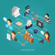 Law Isometric Concept Stock Illustration