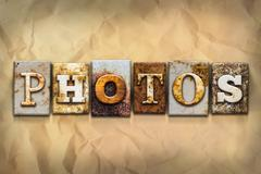 Photos Concept Rusted Metal Type - stock illustration