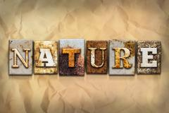 Nature Concept Rusted Metal Type - stock illustration