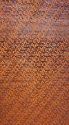 rustic perforated metal vertical - stock photo