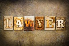 Lawyer Concept Letterpress Leather Theme - stock illustration