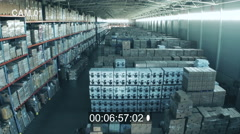 CCTV inside Logistic Warehouse - stock footage