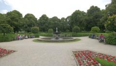 Beautiful fountain in Hofgarten, Munich Stock Footage