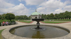 Beautiful view of the Temple of Diana, Munich Stock Footage