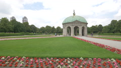People visiting the Temple of Diana, Munich Stock Footage