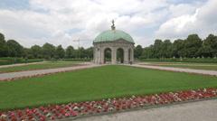 Temple of Diana from Hofgarten, Munich Stock Footage