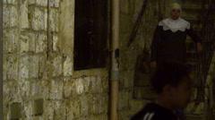 boy juggling a soccer ball at night filmed in Israel. - stock footage