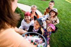 Halloween: Kids Excited to Trick Or Treat Stock Photos