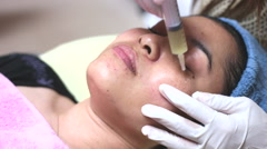 Mesotherapy facial skin treatment Stock Footage