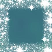 Decorative white sparks trim on smoky blue background Stock Illustration