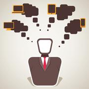 Businessman requirement Stock Illustration