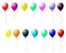 balloons - stock illustration