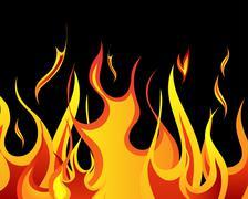 fire background - stock illustration
