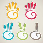 abstract counting hand vector - stock illustration