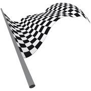 checked flags - stock illustration
