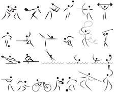 Summer sport icon set Stock Illustration
