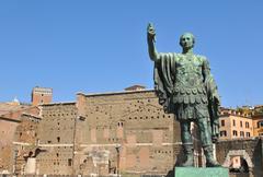 Roman emperor - stock photo