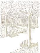 Park Vector Stock Illustration