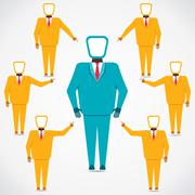 Support every people to leader vector Stock Illustration