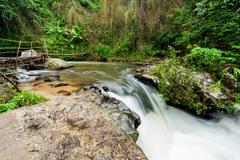 Pha Dok Xu waterfall at Doi Inthanon National park in Chiang Mai Thailand Stock Photos