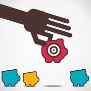 Focus on big saving money concept vector Stock Illustration