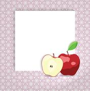 universal page layout with apple icon, recipe or daily special card template - stock illustration