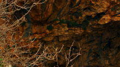 Video panorama of Adamit Park Cave arch shot in Israel. Stock Footage