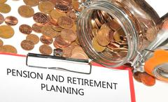 Pension and retirement planning - stock photo