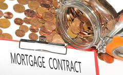 Mortgage contract - stock photo