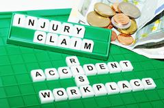 Injury claim Stock Photos