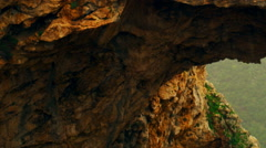Video of Adamit Park Cave arch shot in Israel. Stock Footage
