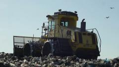 Waste treatment's bulldozer Stock Footage