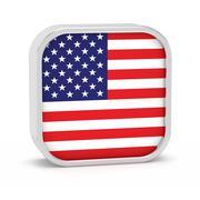 North America flag sign. Stock Illustration