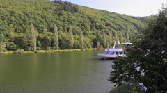 River Cruise along the Moselle in Germany Stock Footage