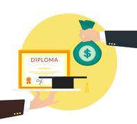 Bribery - stock illustration